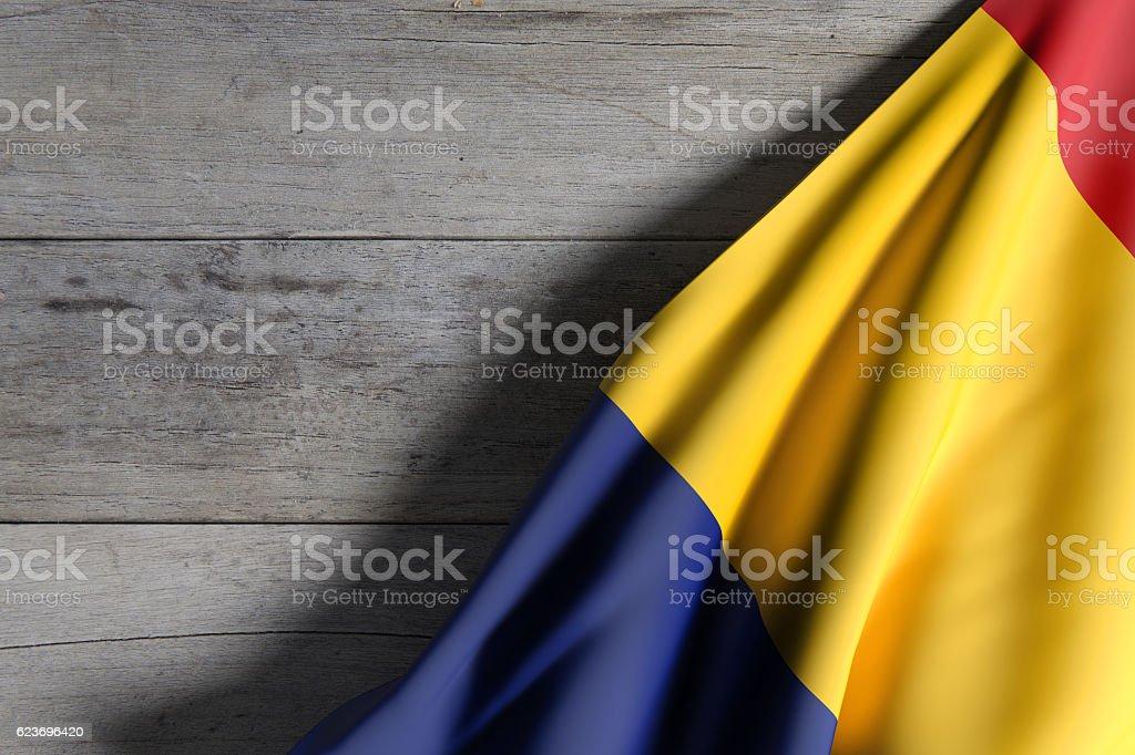 Romania flag waving stock photo
