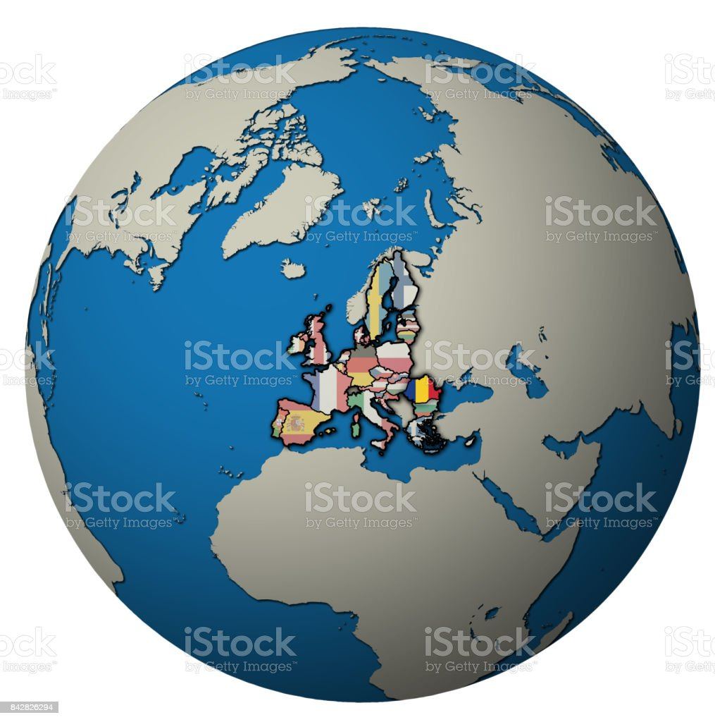 Image of: Romania Location On Globe Map With Territory Of European Union Stock Photo Download Image Now Istock