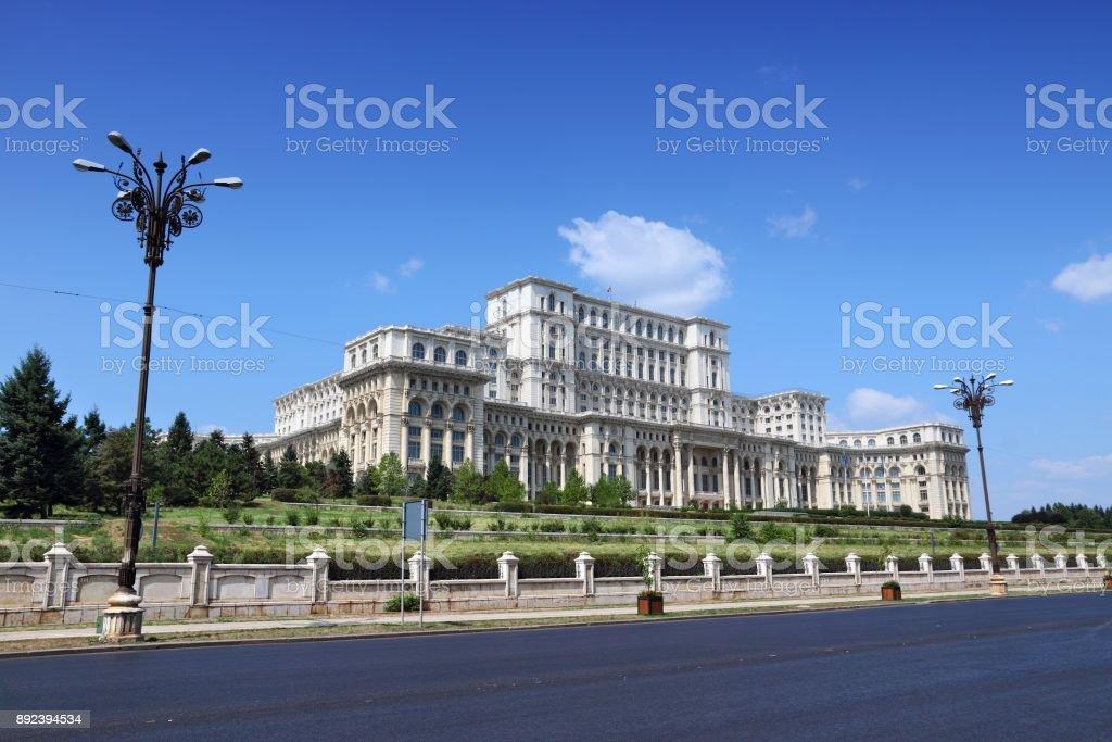 Romania Parliament Palace stock photo