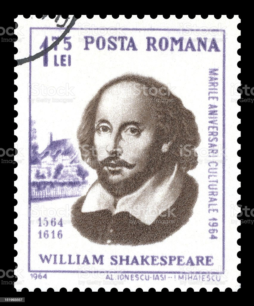 Romania Postage Stamp William Shakespeare royalty-free stock photo