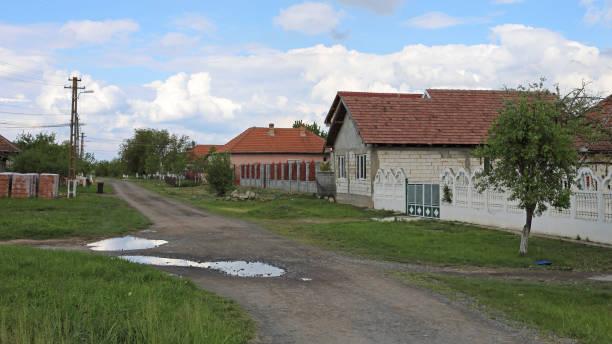 Romania Village stock photo