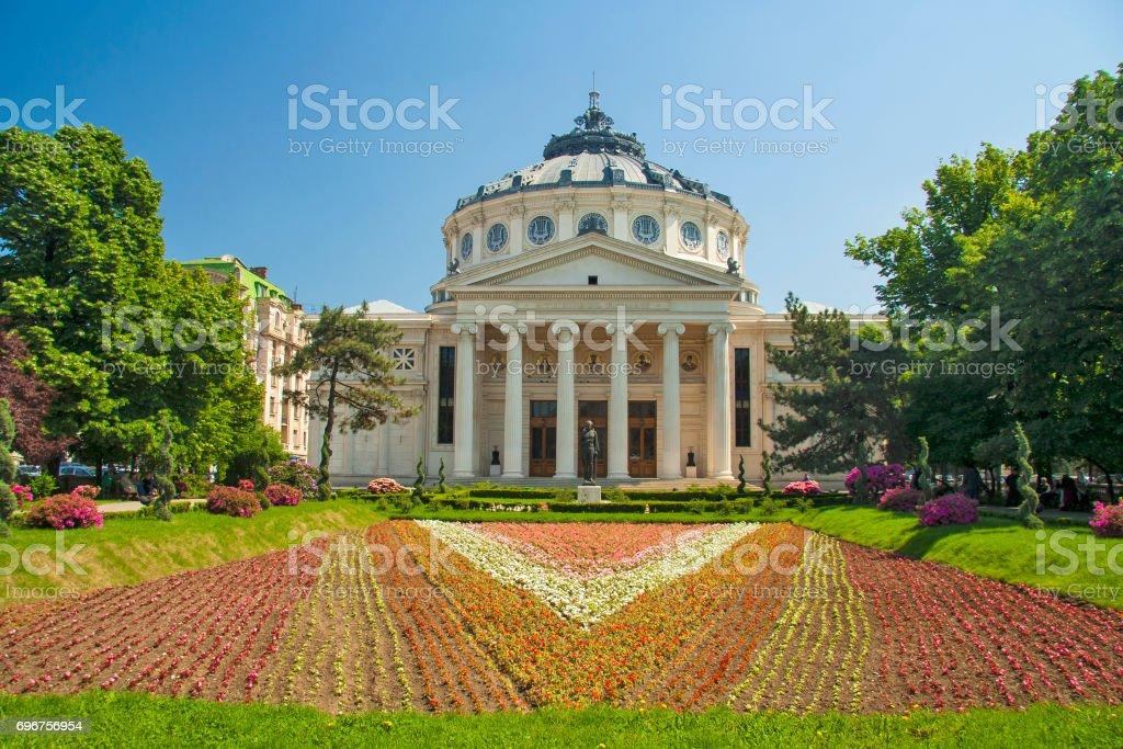 Roemeens Atheneum (Concertgebouw Philarmonisch). Bucharest, Roemenië foto