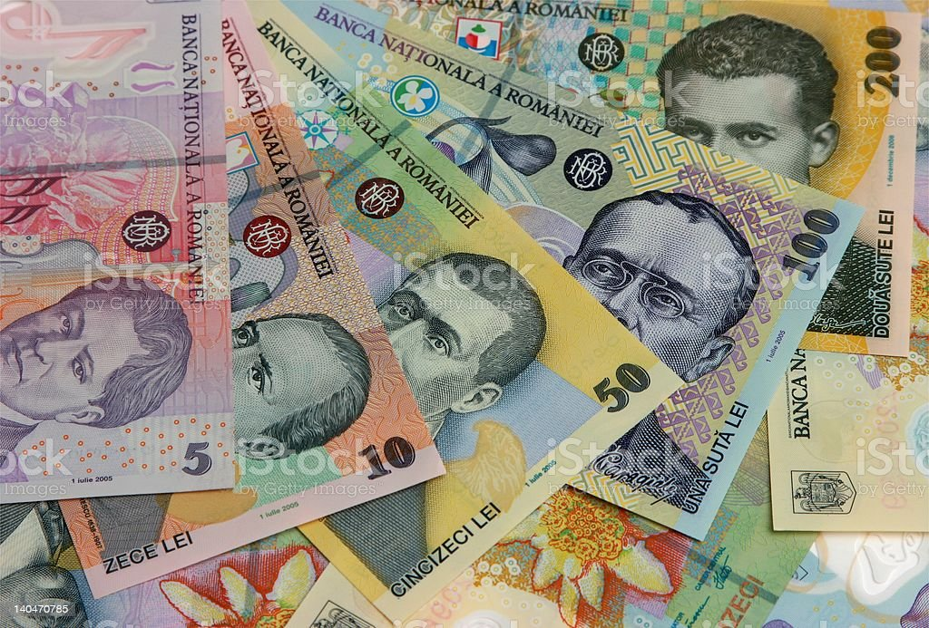 Romanian banknotes royalty-free stock photo