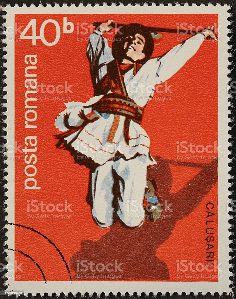 Romanian dancer royalty-free stock photo