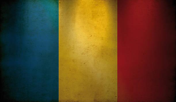 Romanian Flag Grunge Wallpaper Stock Photo Download Image