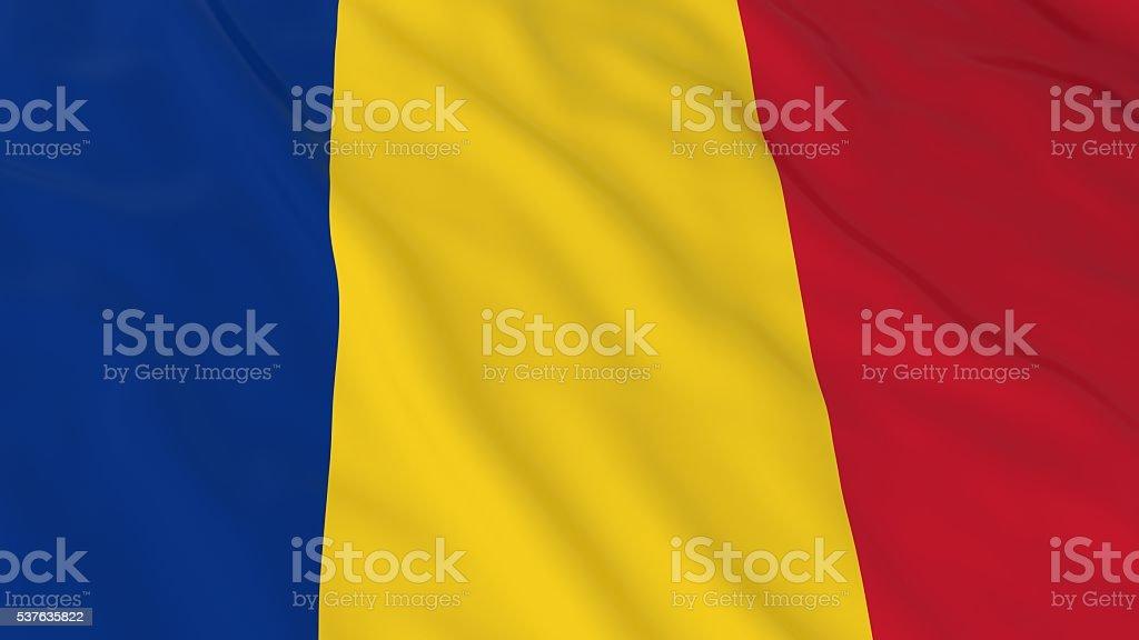 Romanian Flag HD Background - Flag of Romania 3D Illustration stock photo