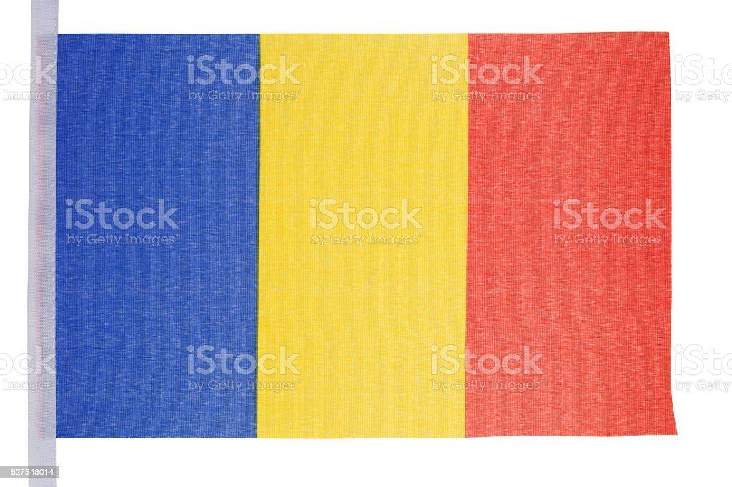 Romanian flag stock photo