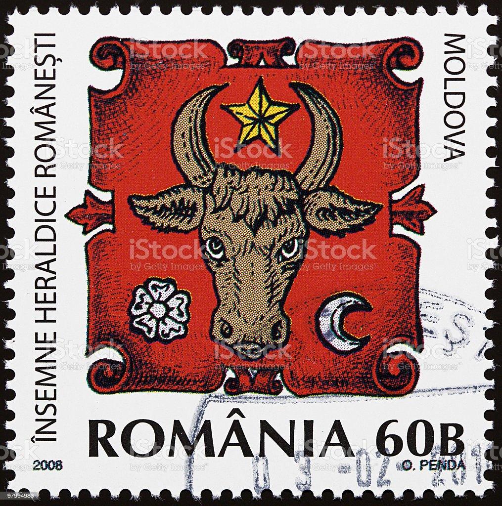 Romanian heraldic sign stock photo