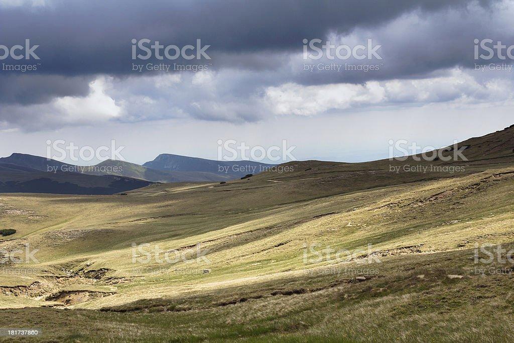 Romanian mountain landscape royalty-free stock photo