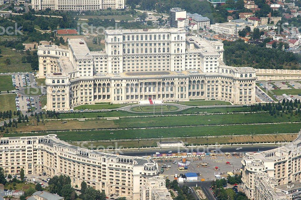 Romanian Parliament stock photo