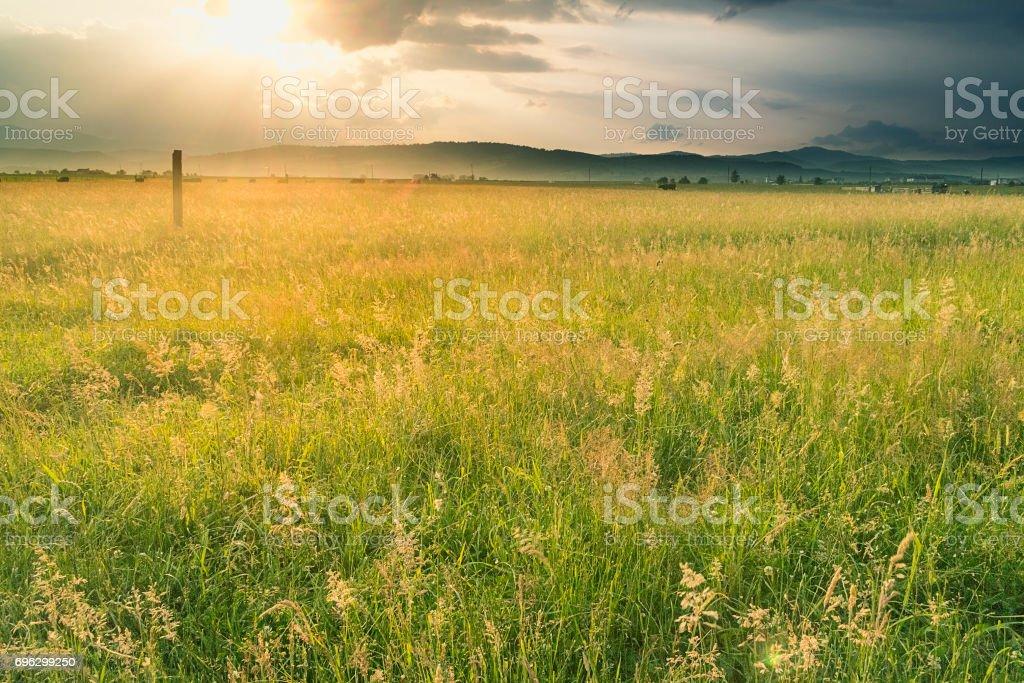Romanian Sunset stock photo
