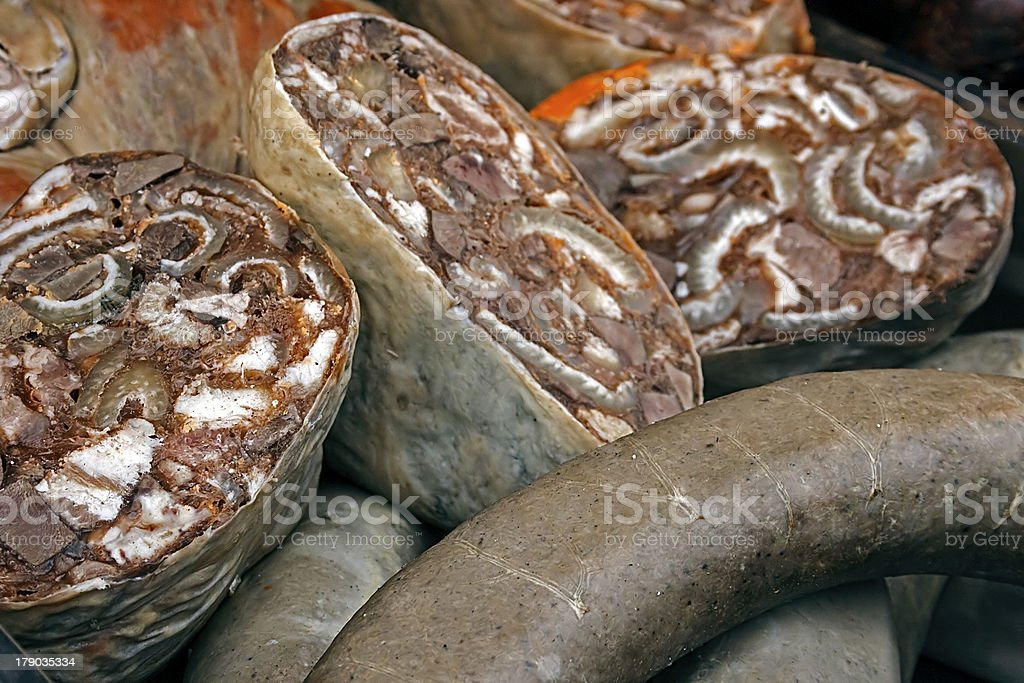 Romanian traditional aspic pieces royalty-free stock photo