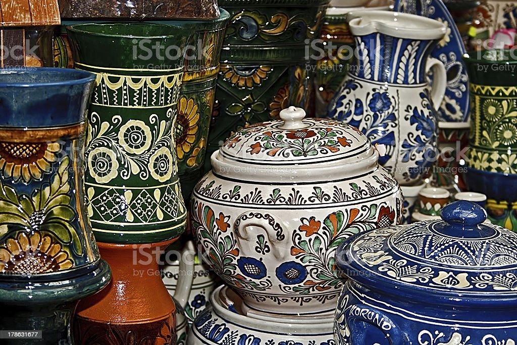 Romanian traditional ceramics 2 royalty-free stock photo