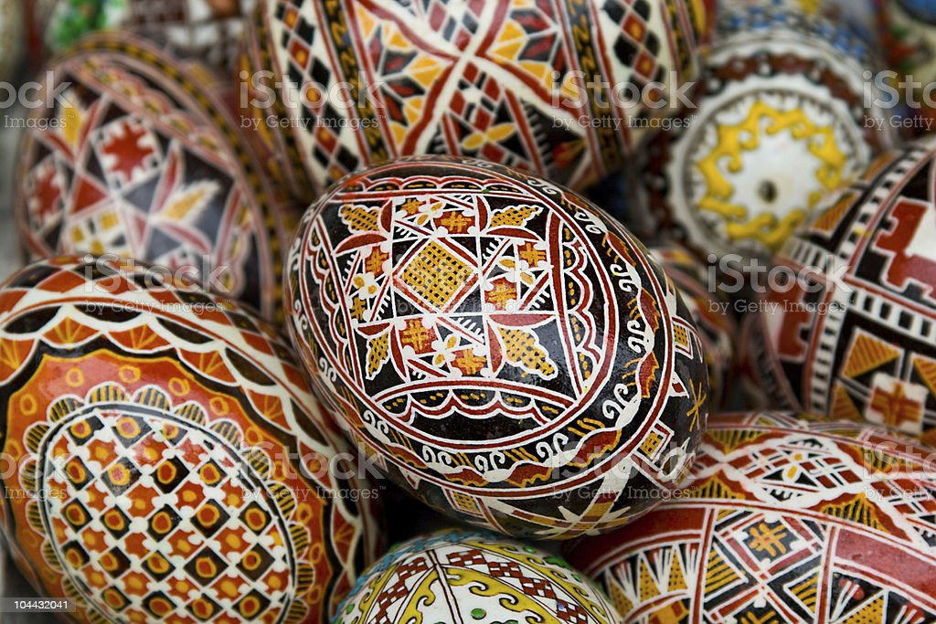 Romanian traditional easter eggs royalty-free stock photo