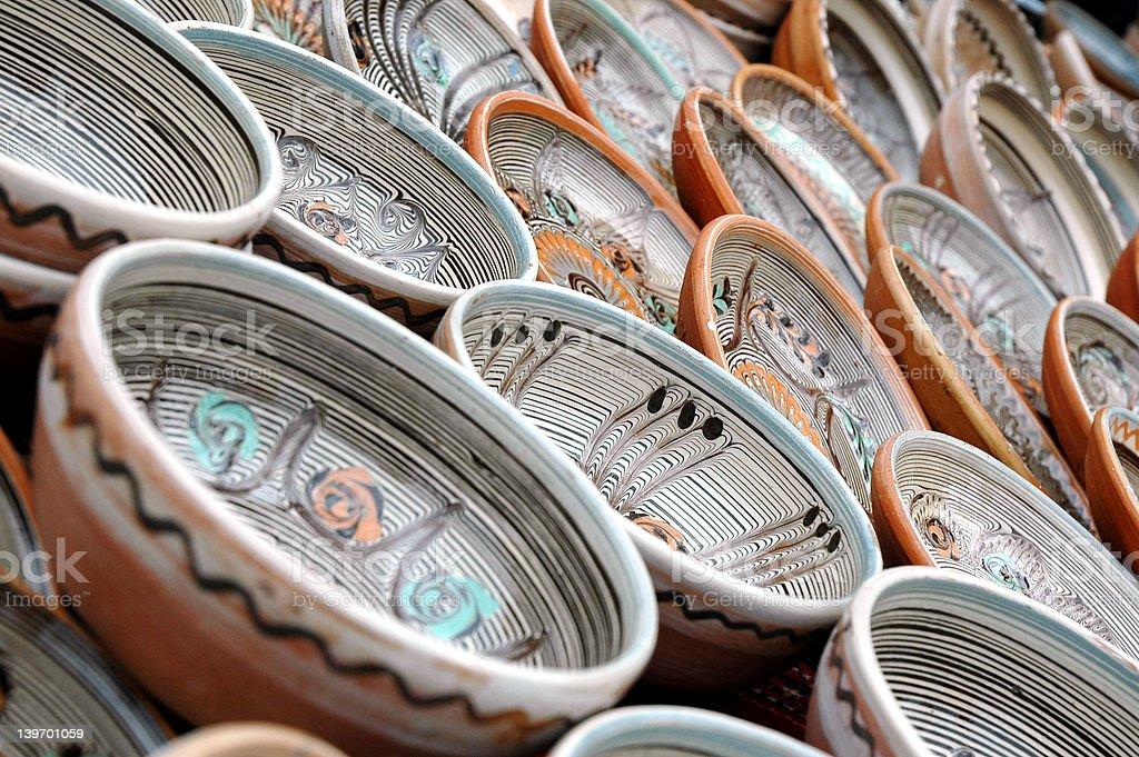 Romanian traditional pots royalty-free stock photo