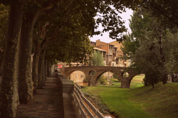 Romanic bridge in Vic, Spain