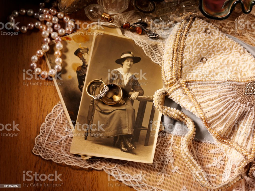 Romantic Antiques and Collectables royalty-free stock photo