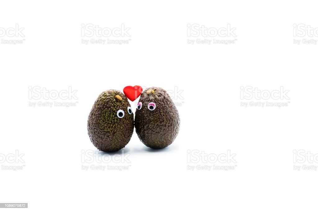 Romantic Avocados Couple With Googly Eyes As Man And Woman