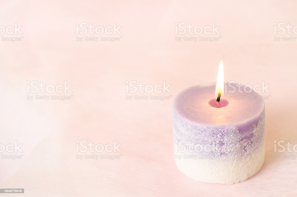 Romantic background - Aroma candle with vintage tone stock photo
