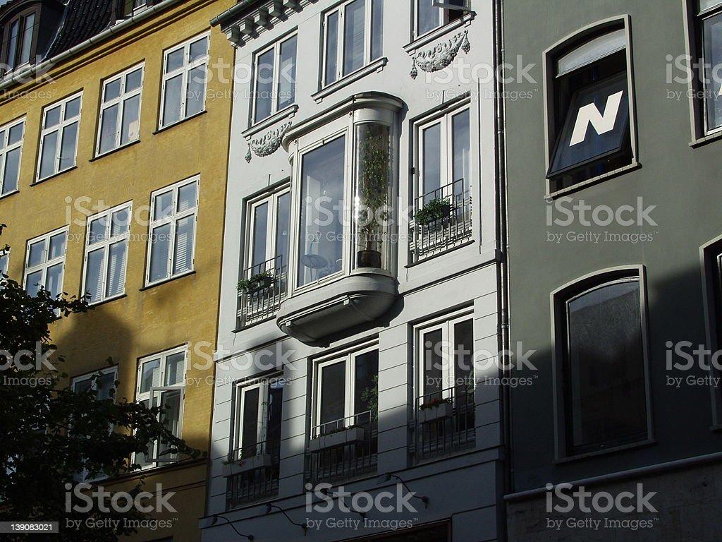 romantic balcony royalty-free stock photo