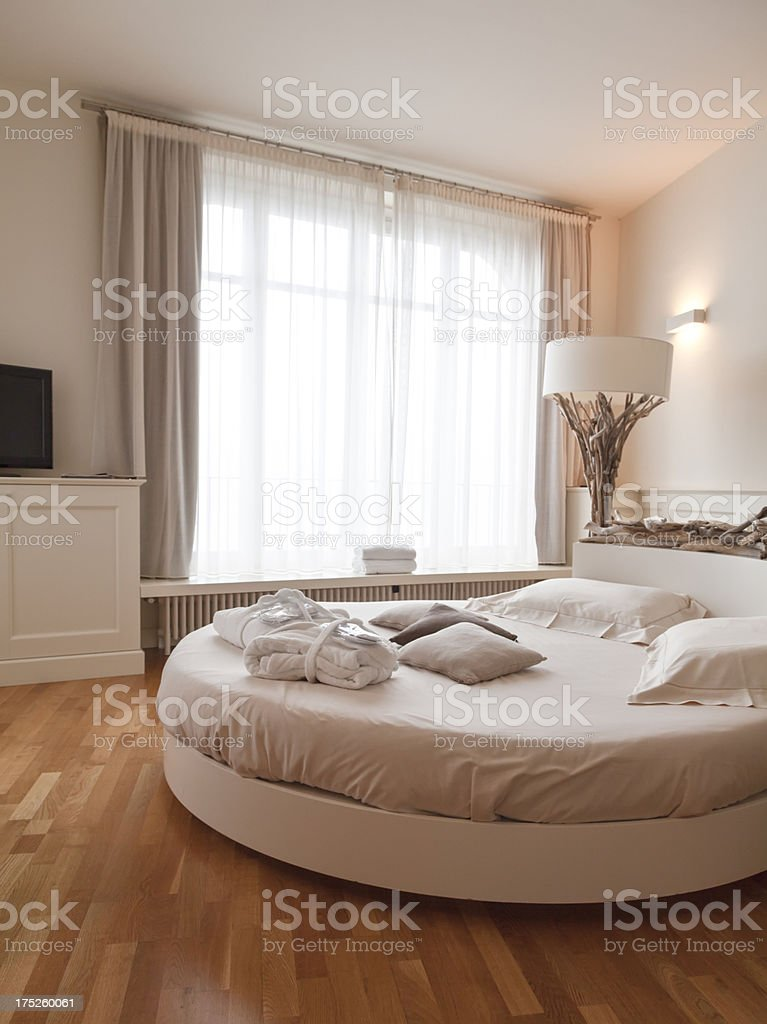 romantic bedroom stock photo