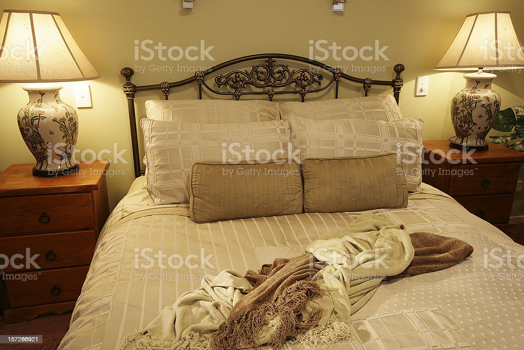 Romantic Bedroom Setting royalty-free stock photo