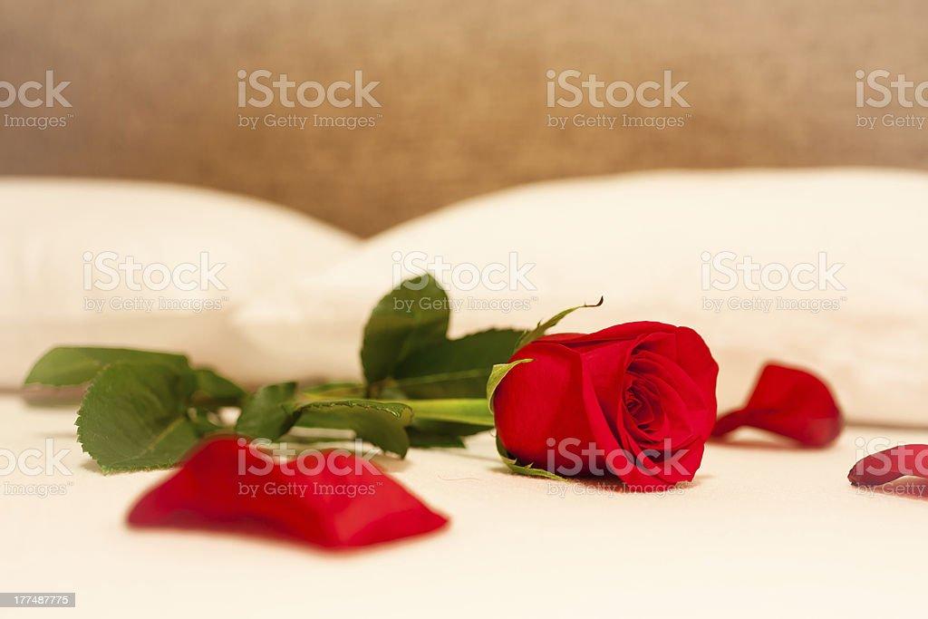 Romantic bedroom setting royalty-free stock photo
