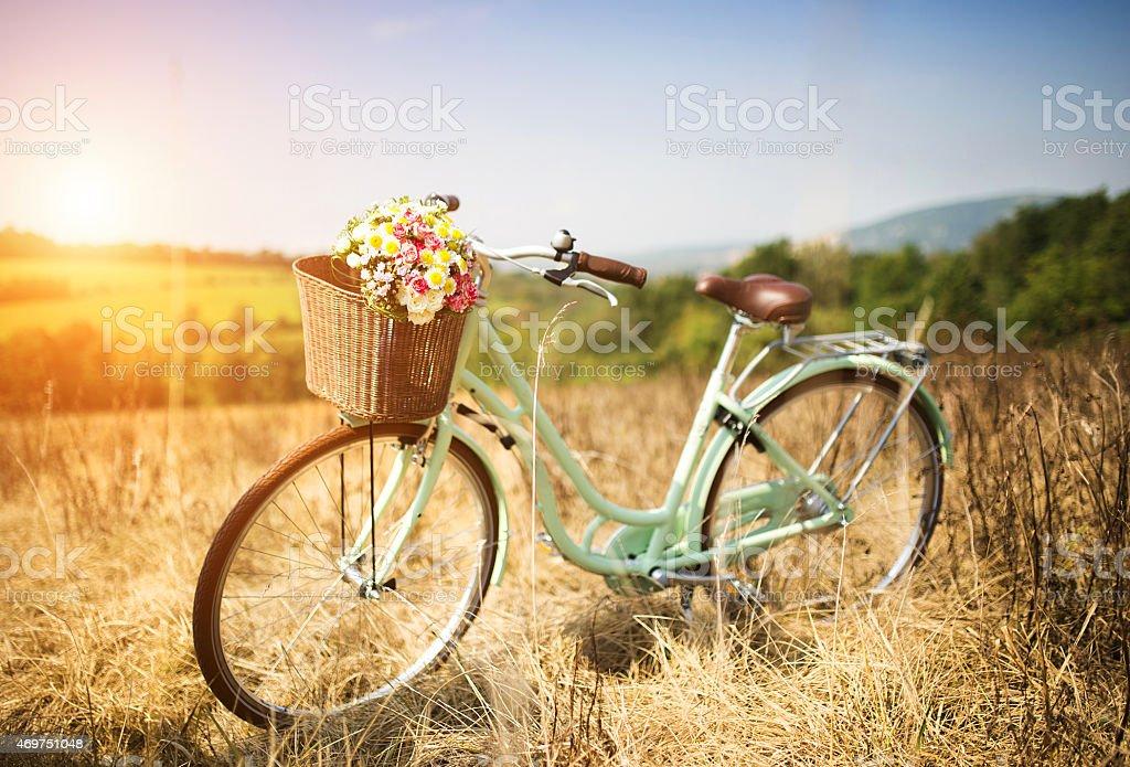 Romántico de bicicleta - foto de stock