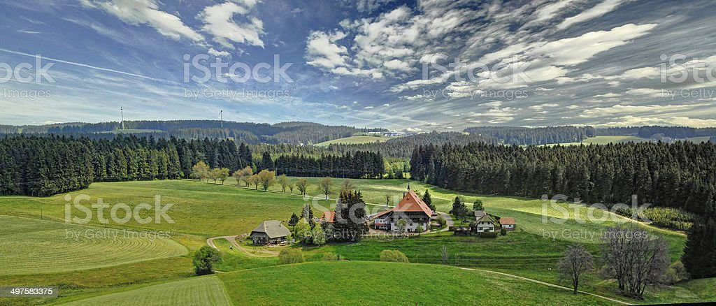 romantic Black Forest stock photo