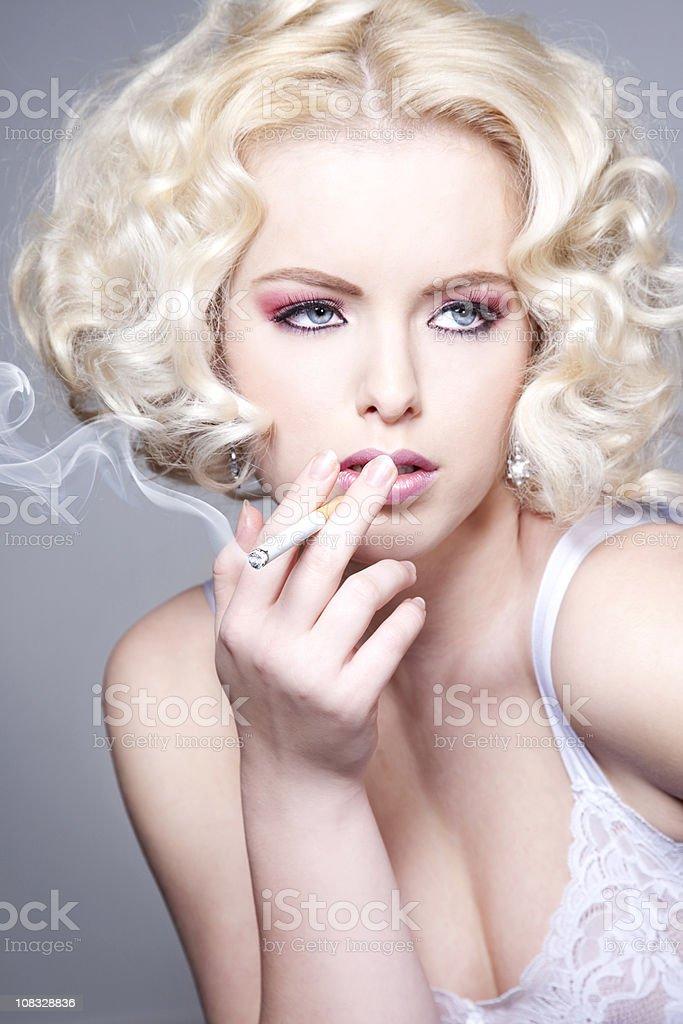 Romantic blond beauty stock photo