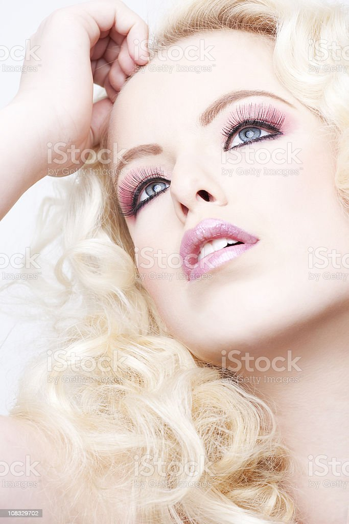 Romantic blond beauty stock photo