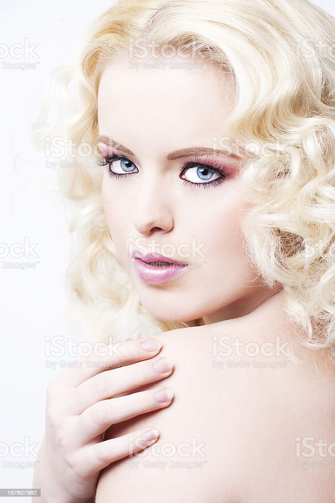 Romantic blond beauty royalty-free stock photo