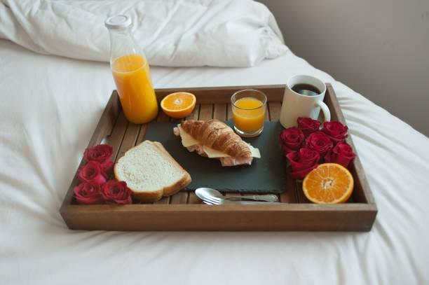 Romantic breakfast stock photo