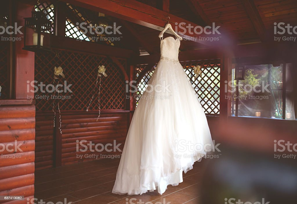 Romantic Bride Dress stock photo