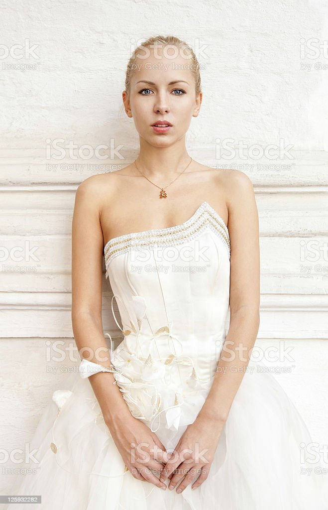 Romantic bride stock photo