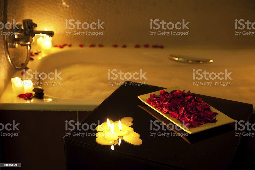 Romantic bubble bath stock photo