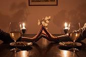 istock Romantic candle light dinner 504896004