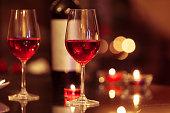 istock Romantic candle light dinner 528718748