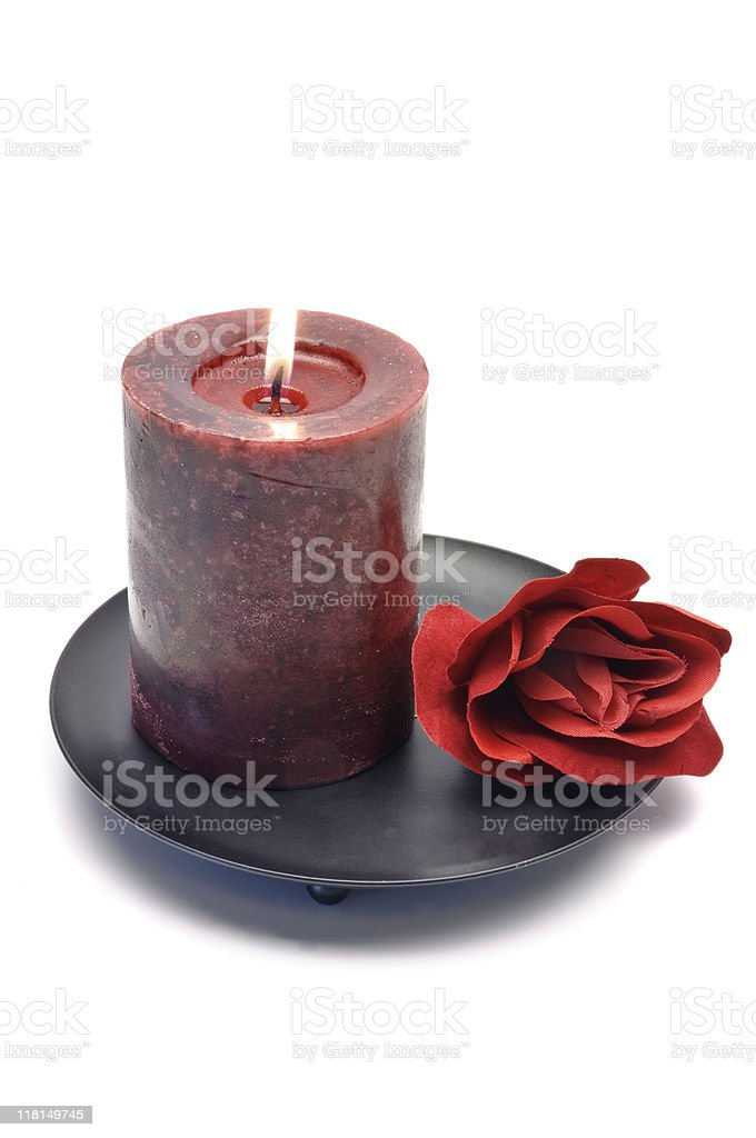 Romantic Candle royalty-free stock photo