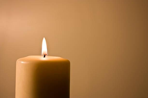 Romantic Candle stock photo