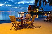 Romantic Candlelight Beach Dinner at Seaside Restaurant