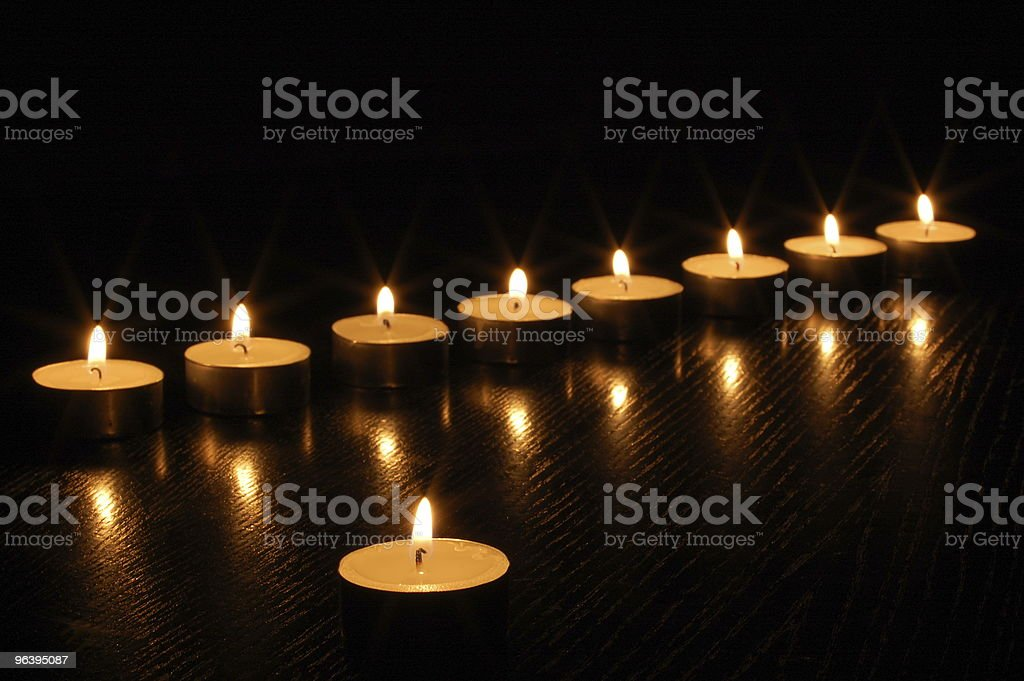 romantic candles - Royalty-free Advent Stock Photo