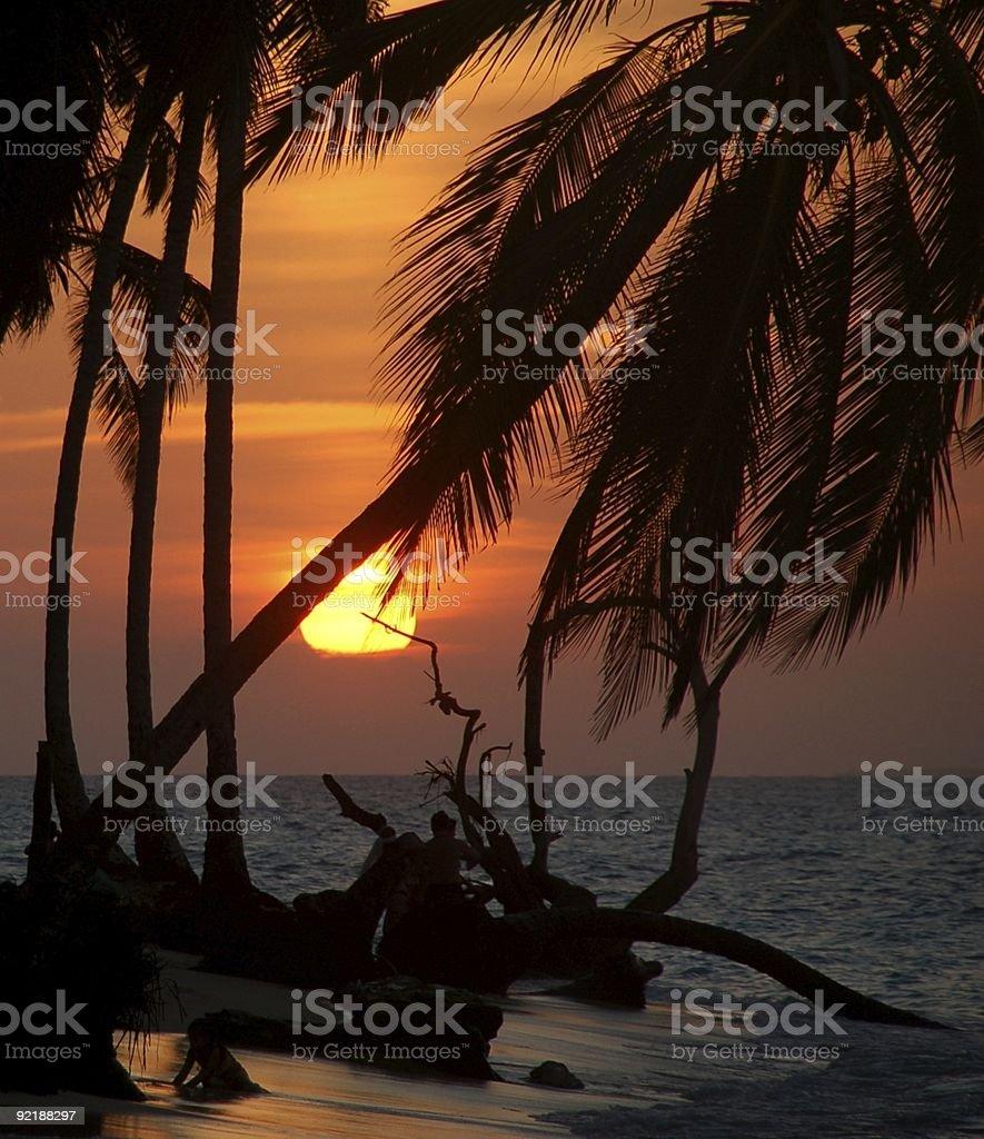 Romantyczne karaibskiego słońca zbiór zdjęć royalty-free