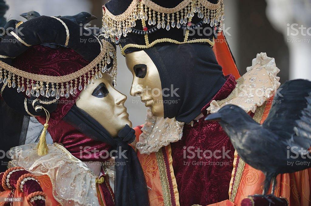 Romantic carnival couple royalty-free stock photo