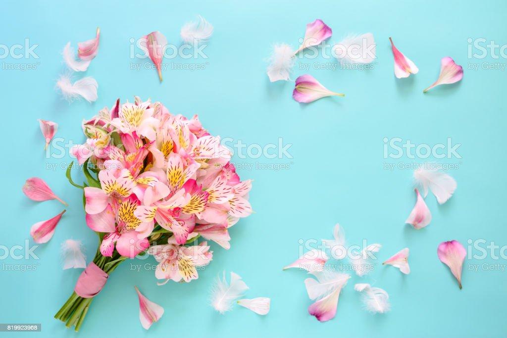Romantic celebration card concept stock photo