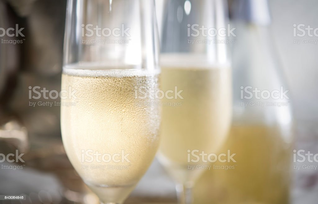 Romantic Champagne for Two stock photo