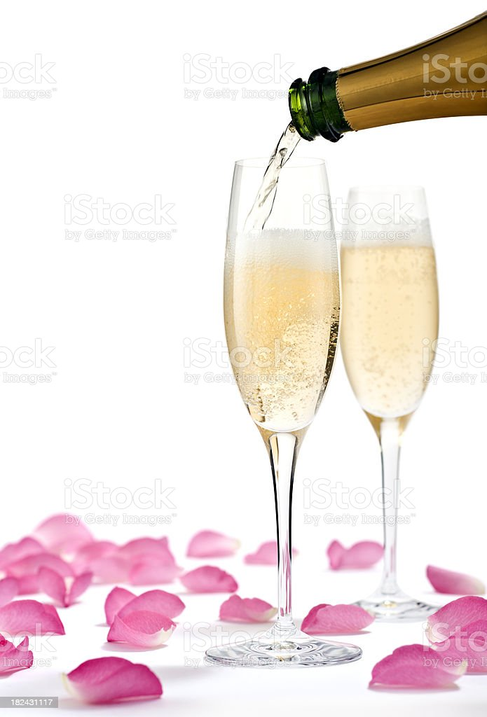 Romantic Champagne royalty-free stock photo