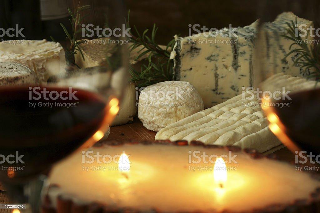 Romantic cheese dinner royalty-free stock photo