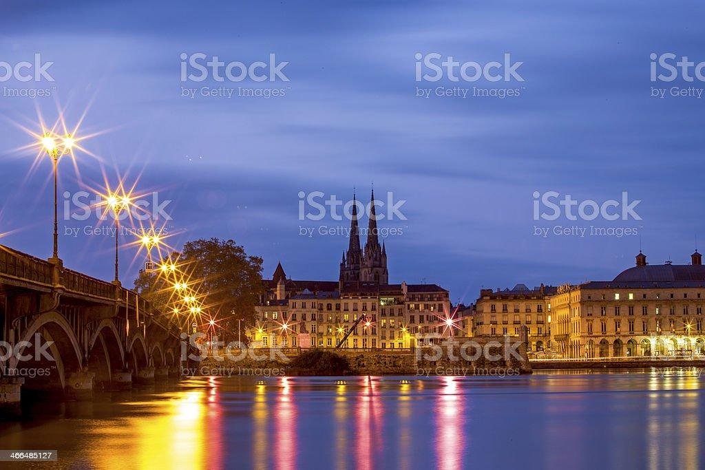 Romantic city Bayonne stock photo