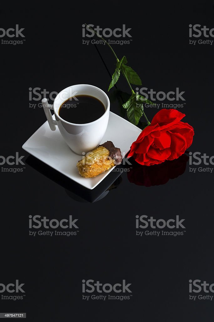 Romantic coffee royalty-free stock photo